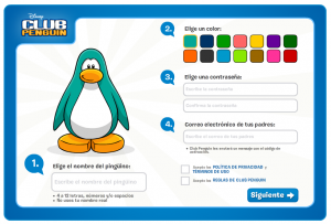 Pasos Registro Club Penguin
