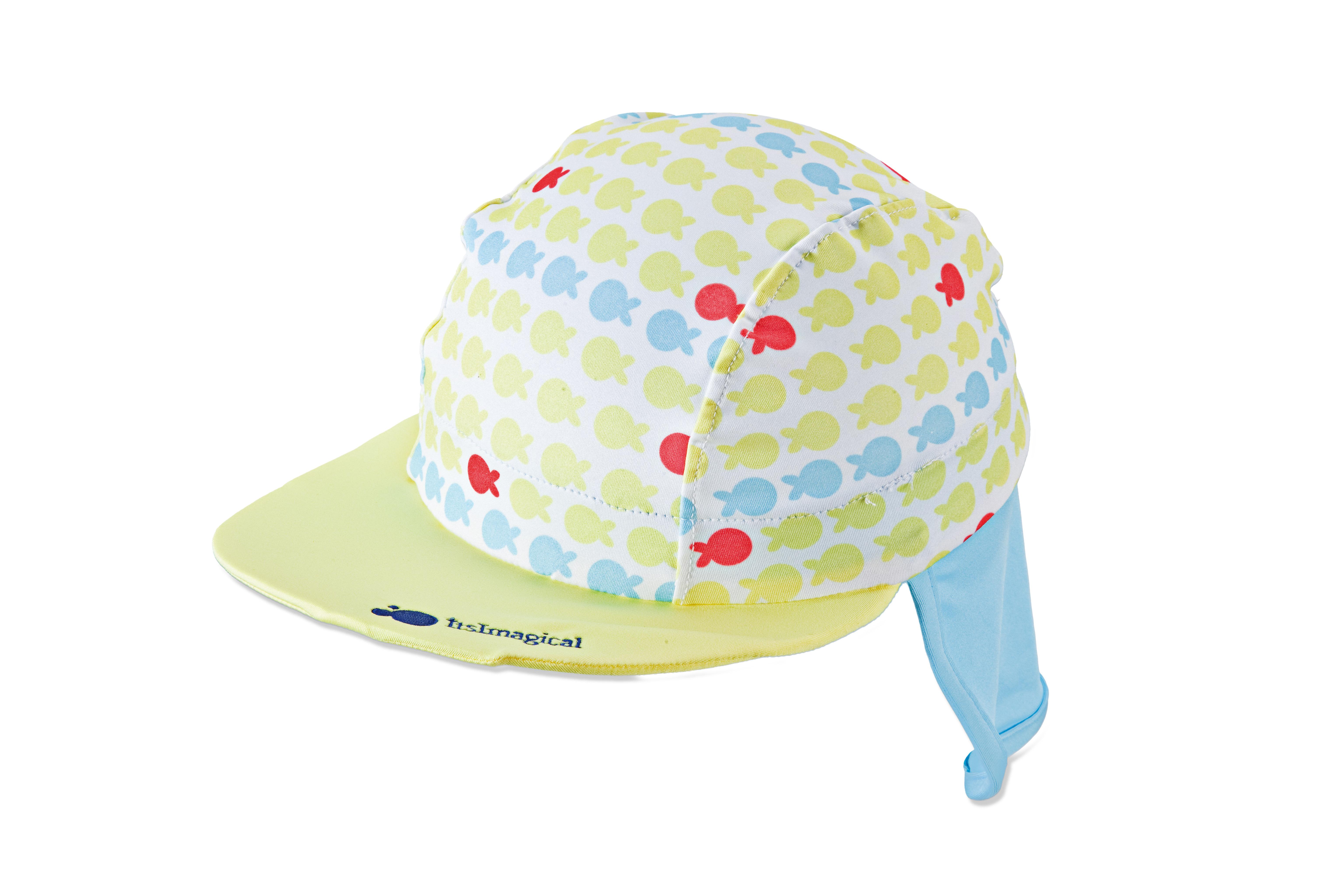 gorra con viscera para bebé