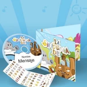 Cosas para pekes cd de música personalizada para niños y niñas
