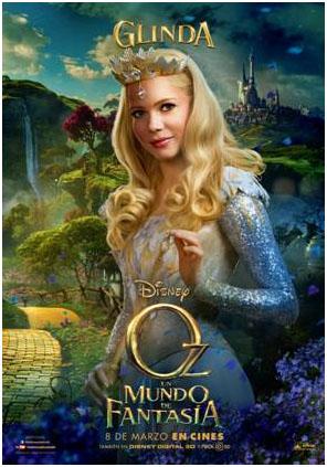 Glinda cartel de la película Oz un mundo de fantasía