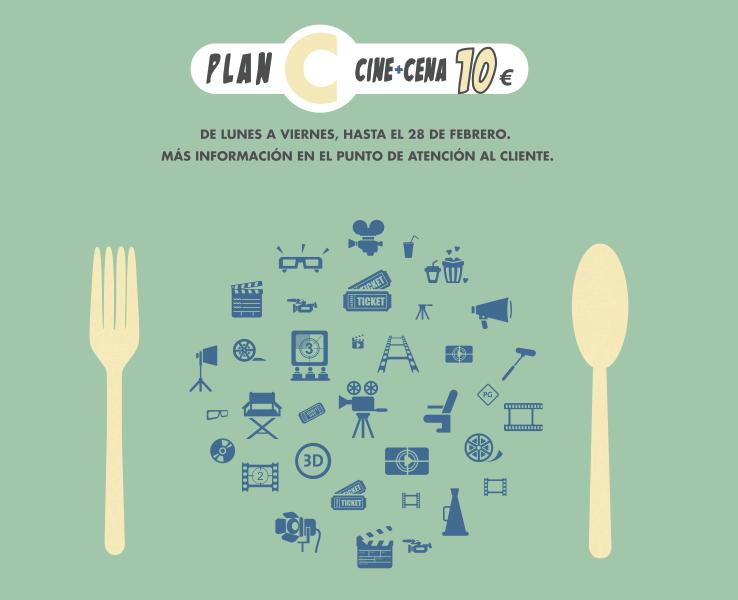 """Islazul ha iniciado una promoción """"Plan C: cine + cena 10 €"""""""