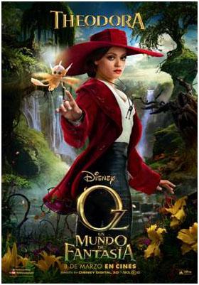 Theodora cartel de la pelicula Oz un mundo de fantasía