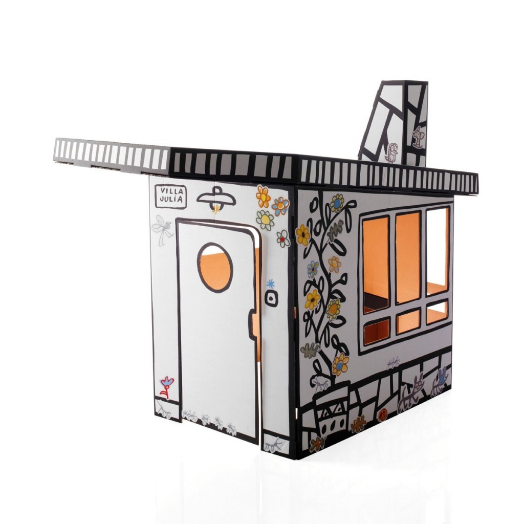 casa de juguete de cartón para niños