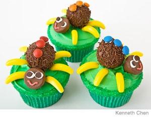 cupcakes de arañas