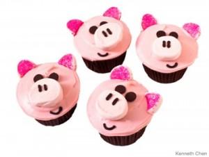 cupcakes de cerditos