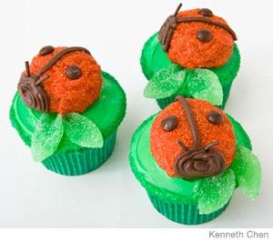 cupcakes de mariquitas