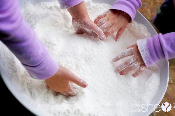 receta nieve casera