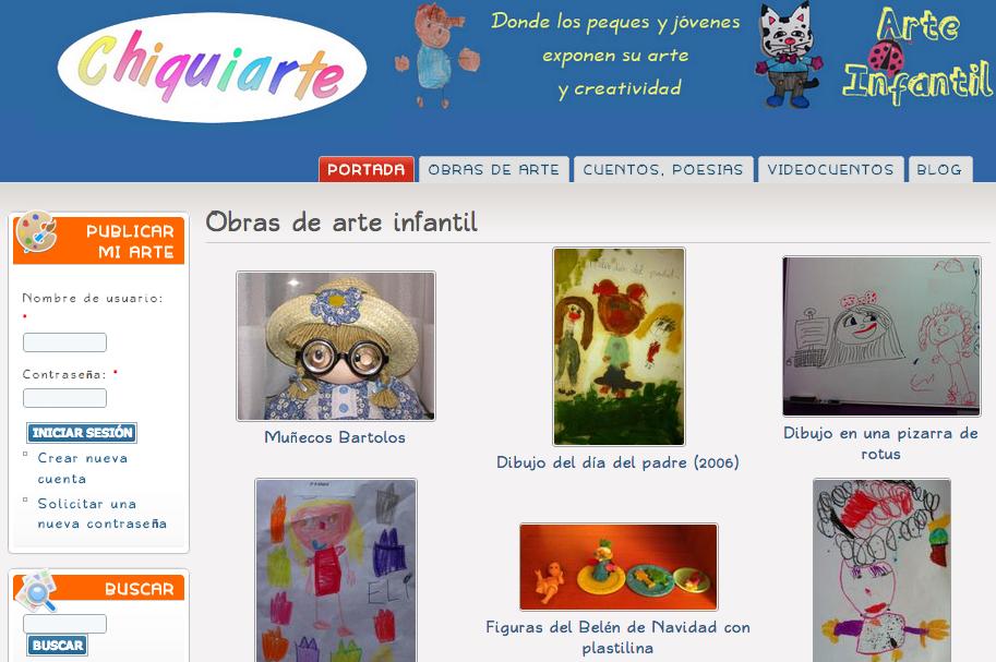 Chiquiarte comunidad online niños y niñas para fomentar el arte