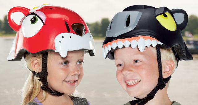 cascos divertidos niños y niñas