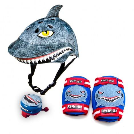 cascos divertidos tiburones