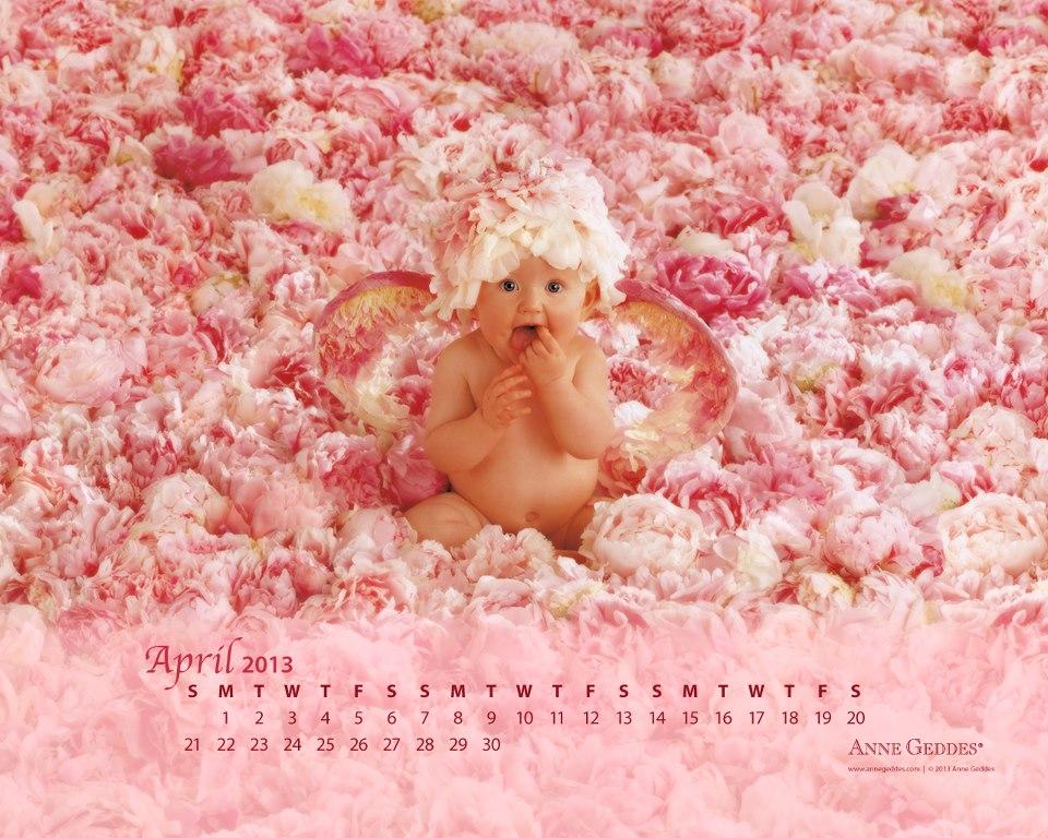 Calendario Abril 2013 de Anne Geddes