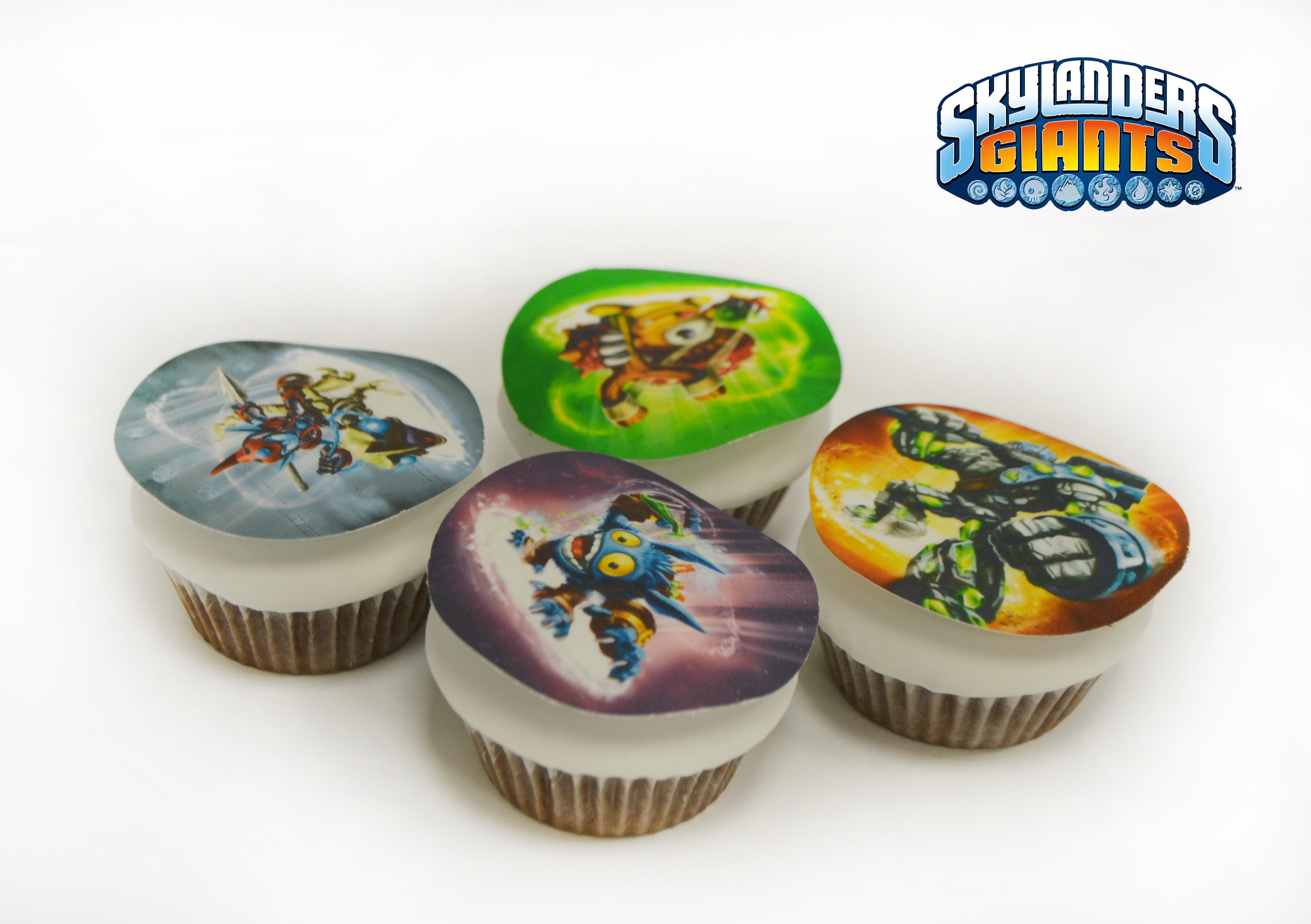 Receta de Cupcakes Skylanders