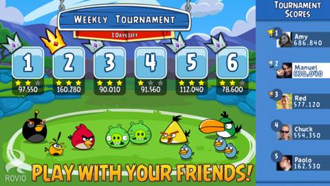 Angry Birds Friends Torneos en Facebook