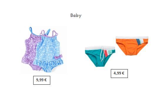 moda infantil zippy bebes bañadores para niñas y niños