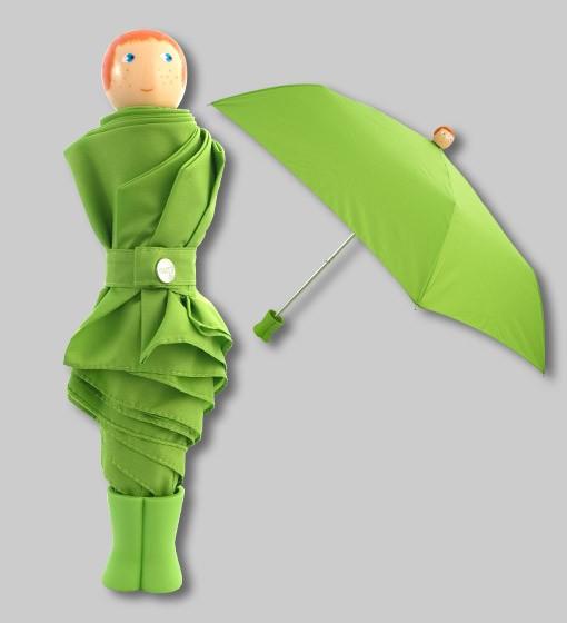 paraguas verde pylones