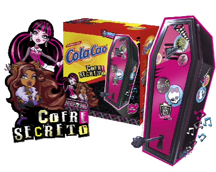 Cofre Secreto de las Monster High con Cola Cao