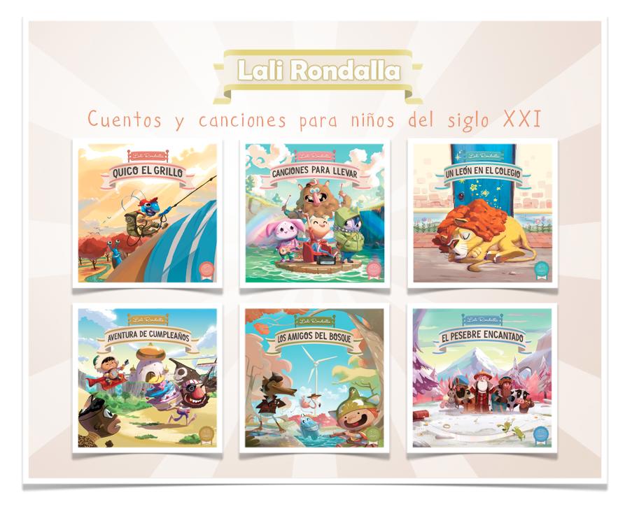 Lali Rondalla colección completa de canciones y cuentos sonoros