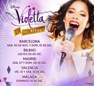 Conciertos de Violetta en España