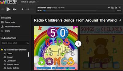 Musica para ninos online