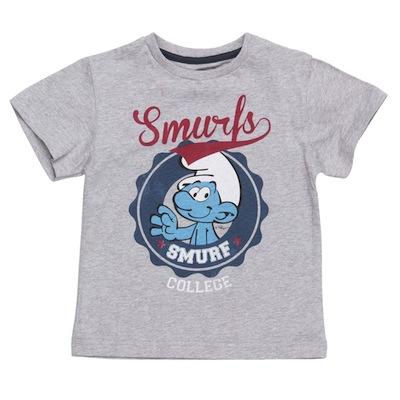 camiseta para niño gris con la imagen de pitufo vanidoso