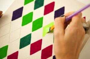 pintar cuadernos con rombos