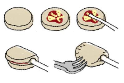 piruletas de calzone o empanaditas