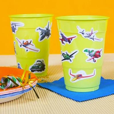fiesta de cumple de aviones disney vasos decorados