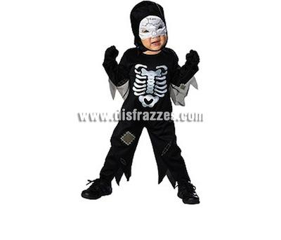 Disfraz de Esqueleto bebés 1-2 años para Halloween