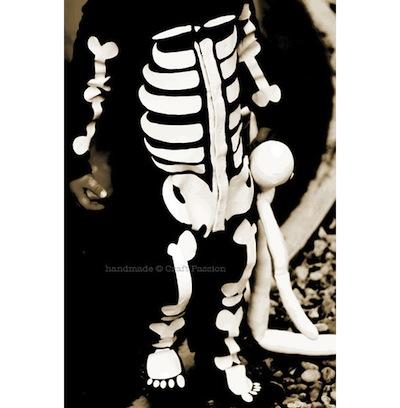 disfraz niños esqueleto casero