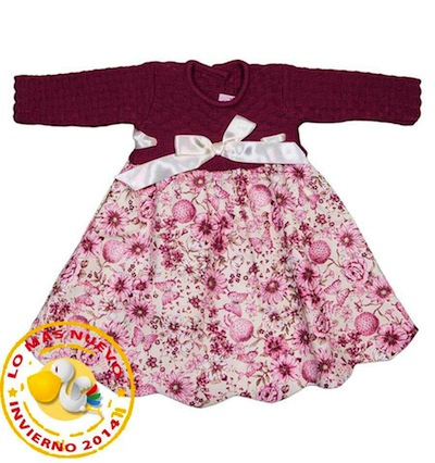 vestido bebé otoño invierno