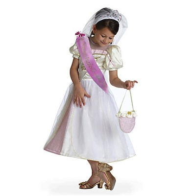 Disfraz infantil vestido de boda Rapunzel