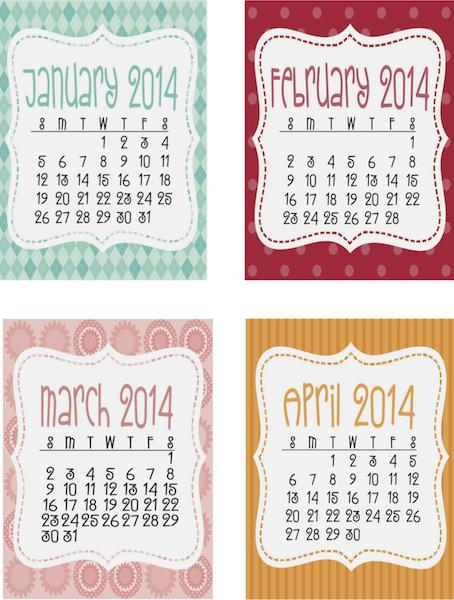 2014 calendarios descargar gratis