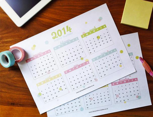 Descargar gratis Calendario 2014