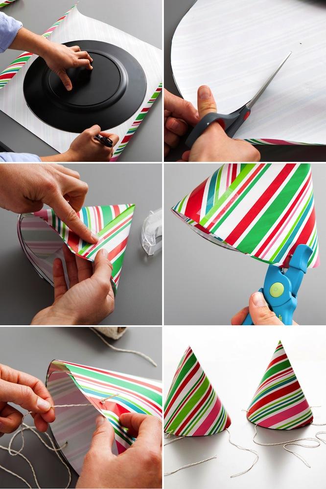 Cotillón casero con papel de regalo tutorial DIY
