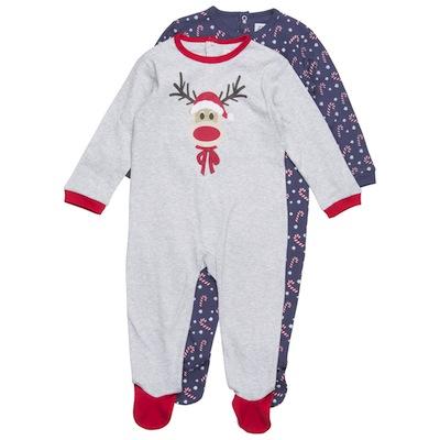 pijamas navidad para bebes blanco con reno