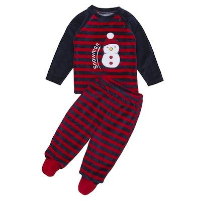 pijama navidad para bebes muñeco de nieve