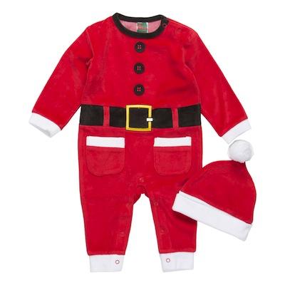 pijama navidad para bebés niño de Papá noel con gorro