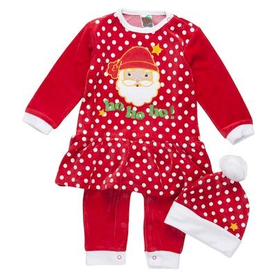Pijama navidad para bebés Papá Noel niña con gorro