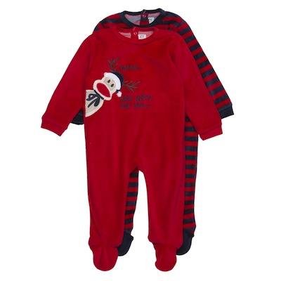 Pijamas navidad para bebes rojo reno