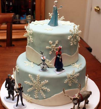 Tarta de Disney Frozen el Reino del Hielo