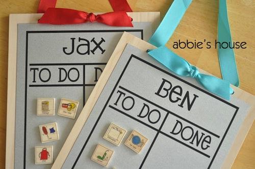tablas para organizar tareas domesticas