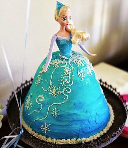 Tarta Reina Elsa de Frozen