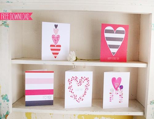 Descarga gratis tarjetas de San Valentin niños
