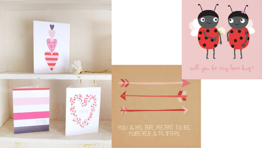 5 tarjetas de San Valentín infantiles para imprimir gratis