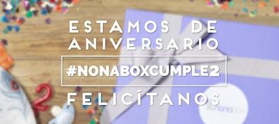 nonabox aniversario 2 años sorteo de cajas y suscripciones