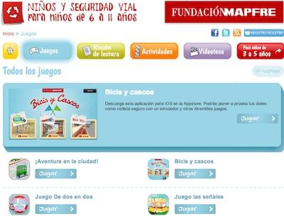 Juegos online educacion vial bicis y cascos mapfre