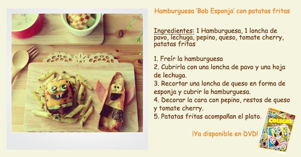 receta hamburguesa de bob esponja y patricio