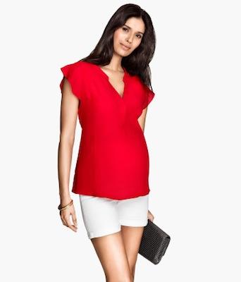 Camisa para embarazadas roja de HM