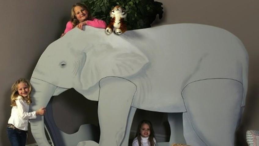 cama infantil en forma de elefante