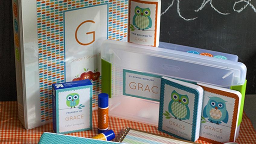Etiquetas escolares personalizadas para imprimir gratis modelo buhos